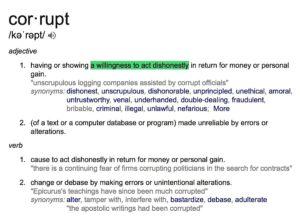 Corrupt Definit