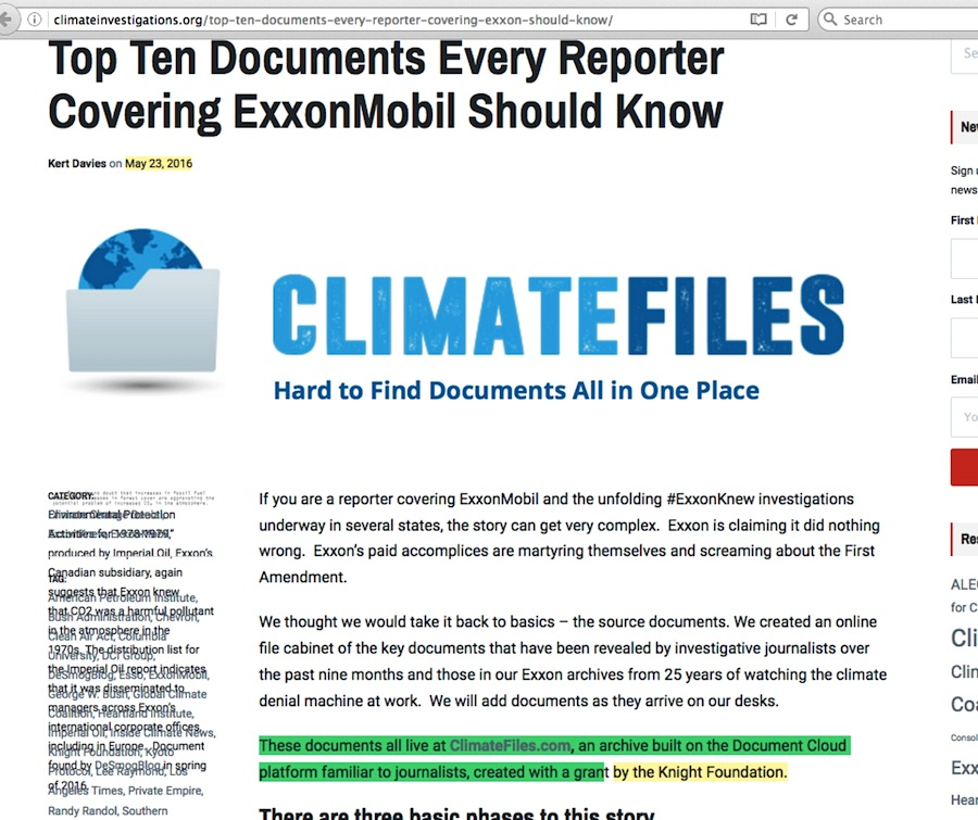 Introducing ClimateFiles com | Gelbspan Files